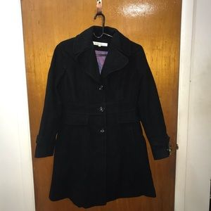 Kenneth Cole A-Line Wool Coat
